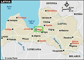 Lettland Karta Europa.Lettland